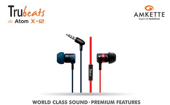Amkette Launches Atom X10 and Atom X12 Earphones in India