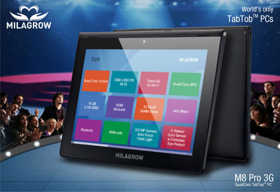 Milagrow launches M8 Pro 3G TabTob PC in India for Rs. 25,990