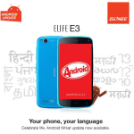 Gionee Elife E3 upgrades to kitkat and Adds 9 local indian languages