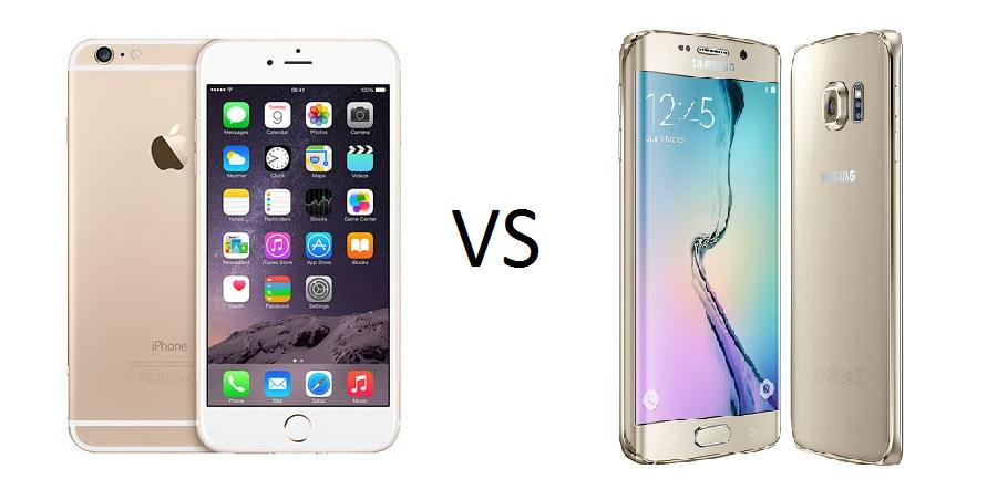 comparison iphone samsung galaxy s6 edge