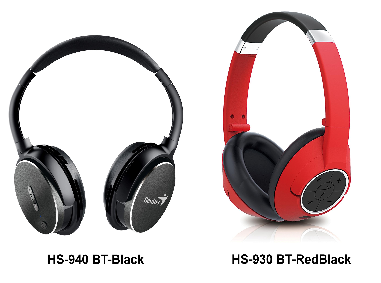Genius-940BT Black & 930BT Red Black