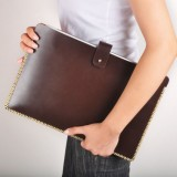 """StudioLove Brown Leather Macbook Pro Sleeve 13"""" Classic"""