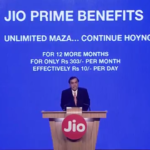 Reliance Jio Prime membership offer – Pay Rs. 99 once for monthly tarrif just Rs 303 and get 1GB data per day and Unlimited Calls