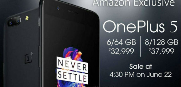 OnePlus 5 With 5.5 inch FHD Display and Dual Rear Cameras Launched Starting At 32,999 INR
