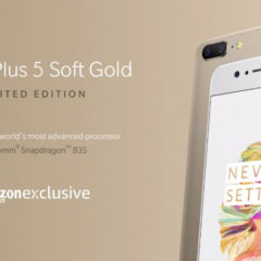 OnePlus 5 Soft Gold Limited Edition Variant Launched In India