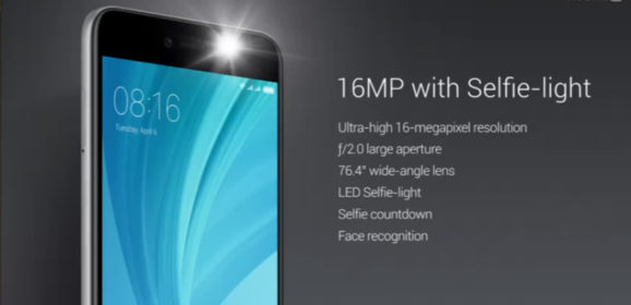 Xiaomi Redmi Y1 With 16 MP Front Camera And Selfie Flash Launched Starts At 8,999 INR