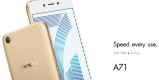 Oppo A71 (2018) With 5.2 inch Display and Snapdragon 450 CPU Launched At 9,990 INR