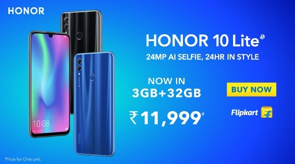 f52c3e15cb8 Honor 10 Lite 3GB RAM variant launches in India for 11